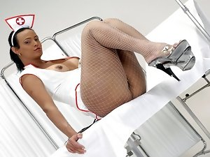 The TS nurse melissa break the boredom abusing her doctor. Whipping, sucking and overall a lot of tranny domination.