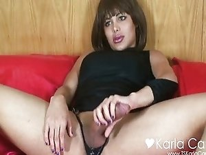 Karla Carrillo on the red bed