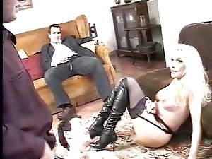 Italian shemale tricked by her boyfriend into a gangbang Pt2